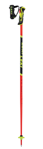 LEKI WCR Lite SL 3D juniorské sjezdové hole fluorescent red-black-neonyellow