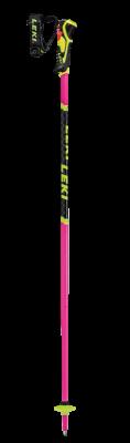 LEKI WCR Lite SL 3D juniorské sjezdové hole neonpink-black-neonyellow
