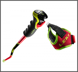 LEKI WCR TBS GS 3D sjezdové hole fluorescent red-black-neonyellow 20/21