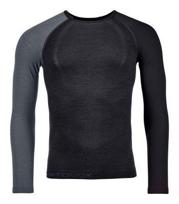 ORTOVOX 120 COMP LIGHT LONG SLEEVE M black raven pánské tričko