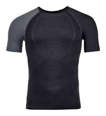 ORTOVOX 120 COMP LIGHT SHORT SLEEVE M black raven pánské tričko