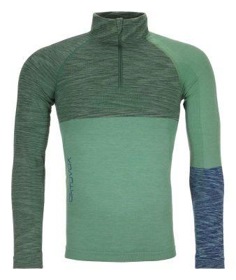 ORTOVOX 230 COMPETITION ZIP NECK M pánské tričko green isar blend 20/21 | M, L, XL, XXL