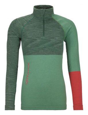 ORTOVOX 230 COMPETITION ZIP NECK W dámské tričko green isar blend 20/21 | L, XL