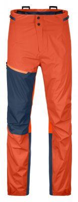 ORTOVOX WESTALPEN 3L LIGHT PANTS M desert orange pánské nepromokavé kalhoty