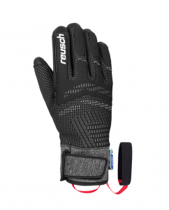 REUSCH RE:KNIT LAURIN R-TEX® XT lyžařské rukavice black/white