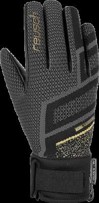 REUSCH RE:KNIT VICTORIA R-TEX® XT dámské lyžařské rukavice black/gold