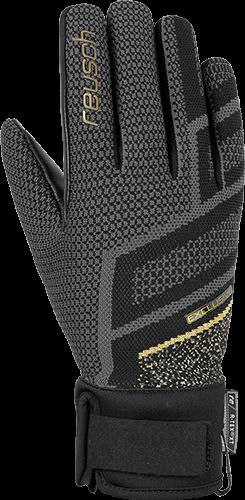 REUSCH RE:KNIT VICTORIA R-TEX® XT dámské lyžařské rukavice black/gold 20/21