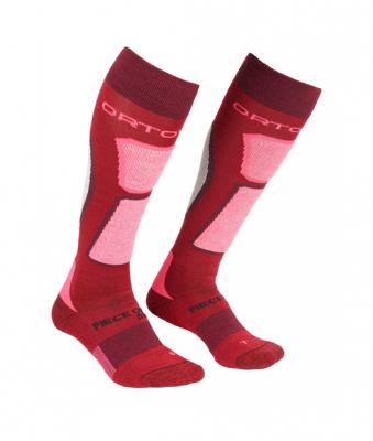 ORTOVOX SKI ROCK'N'WOOL SOCKS W dámské ponožky dark blood