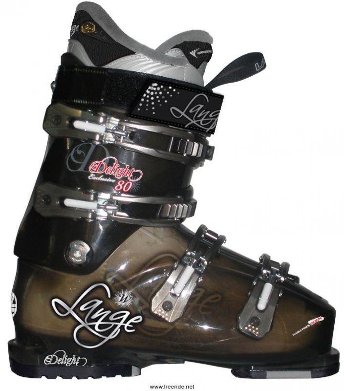LANGE DELIGHT EXCLUSIVE 80 W dámské lyžařské boty black transparent