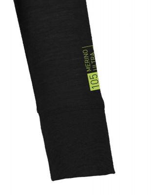 ORTOVOX 105 ULTRA LONG SLEEVE dámské tričko black raven