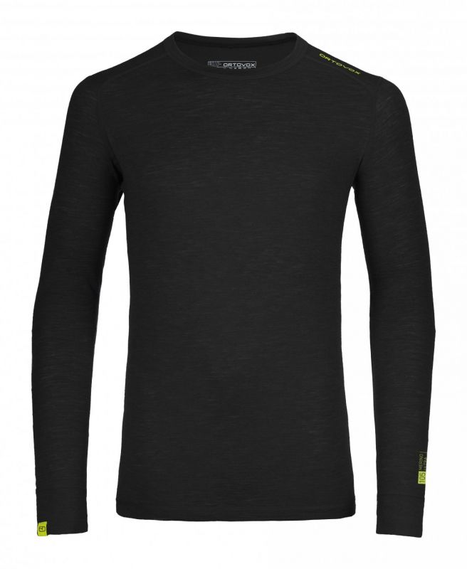 ORTOVOX 105 ULTRA LONG SLEEVE tričko black raven