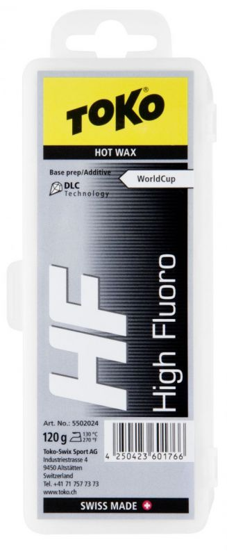 TOKO HF HOT WAX BLACK fluorový vosk 120 g