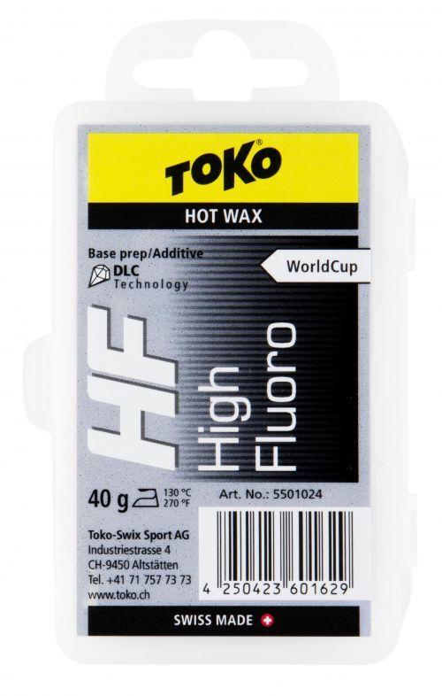 TOKO HF HOT WAX BLACK fluorový vosk 40 g