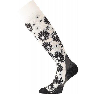LASTING SDD dámské lyžařské ponožky bílé