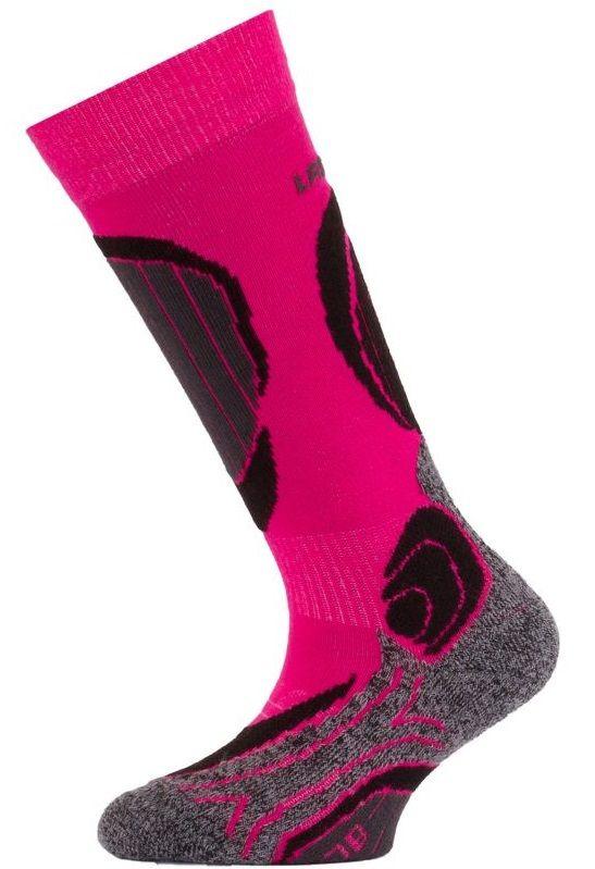 LASTING SJB dětské lyžařské ponožky růžová
