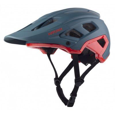 HATCHEY CONTROL petrol-red cyklistická helma    L