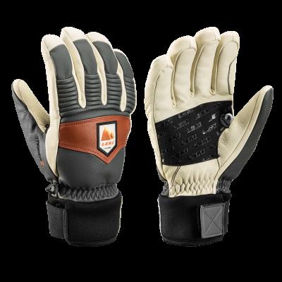 LEKI PATROL 3D lyžařské rukavice graphite-off white-maroon 21/22 | 7, 8, 9, 10