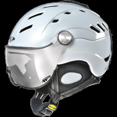 CP CAMURAI lyžařská helma pearl white sihiny/white shiny