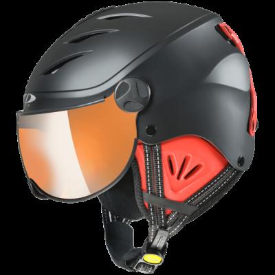 CP J CAMULINO dětská lyžařská přilba black s.t/red