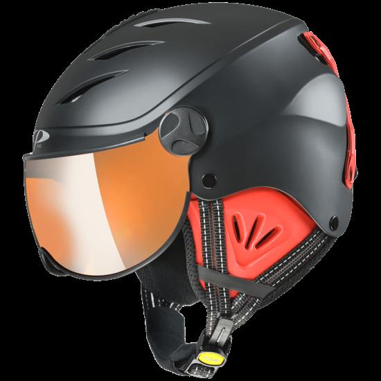 CP J CAMULINO dětská lyžařská helma black s.t/red