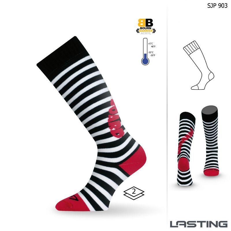 LASTING SJP dětské ponožky červená