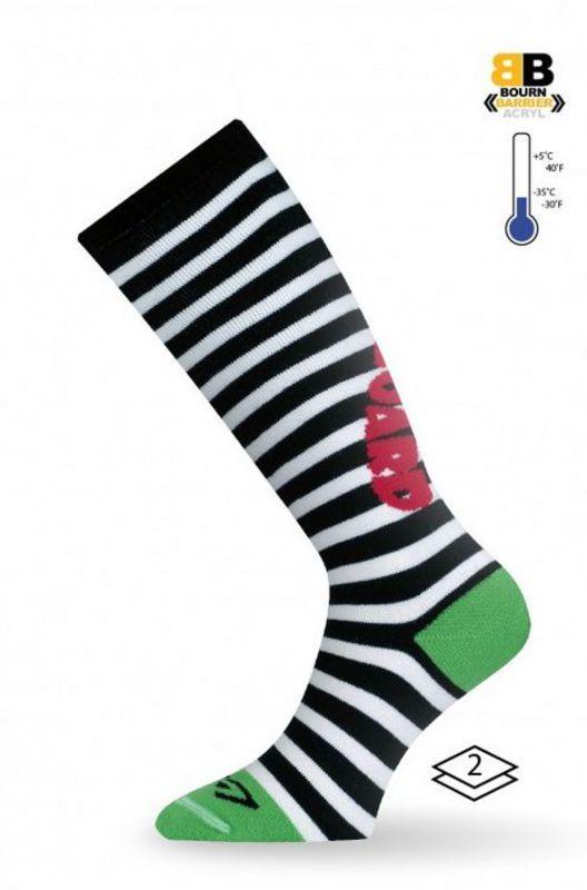 LASTING SJP dětské ponožky zelená