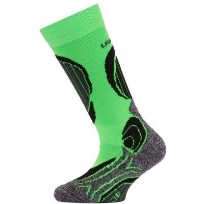 LASTING SJB dětské lyžařské ponožky zelená