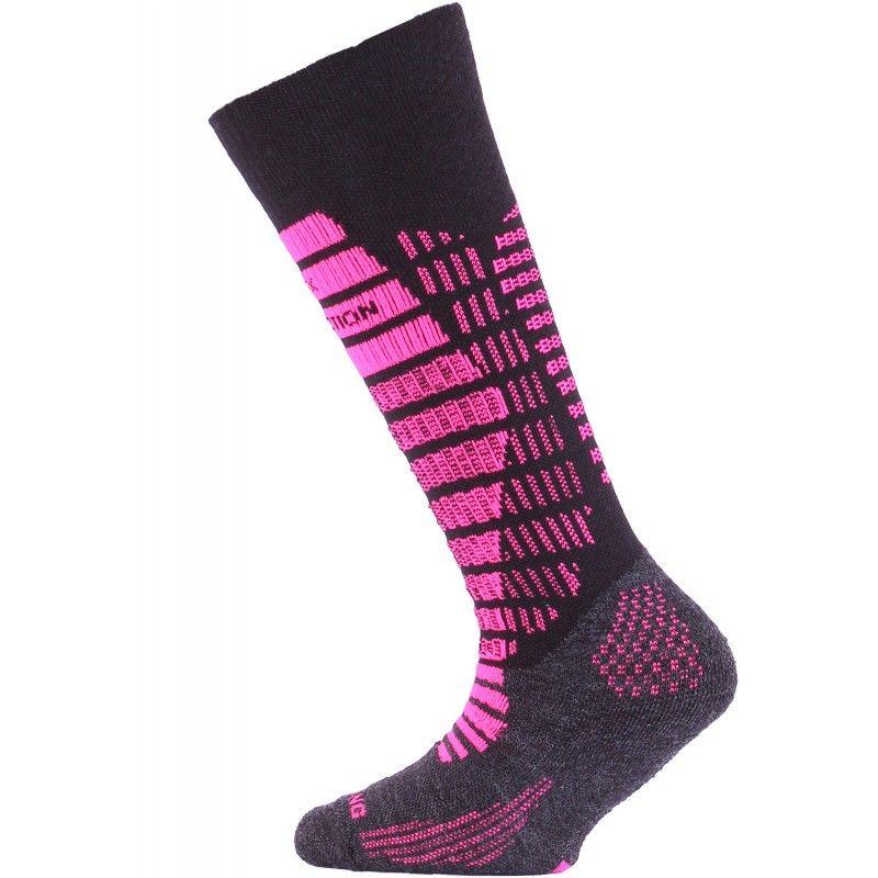LASTING SJR dětské lyžařské ponožky růžová
