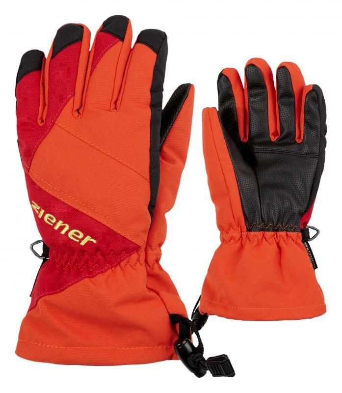 ZIENER AGIL dětské prstové rukavice orange spiece