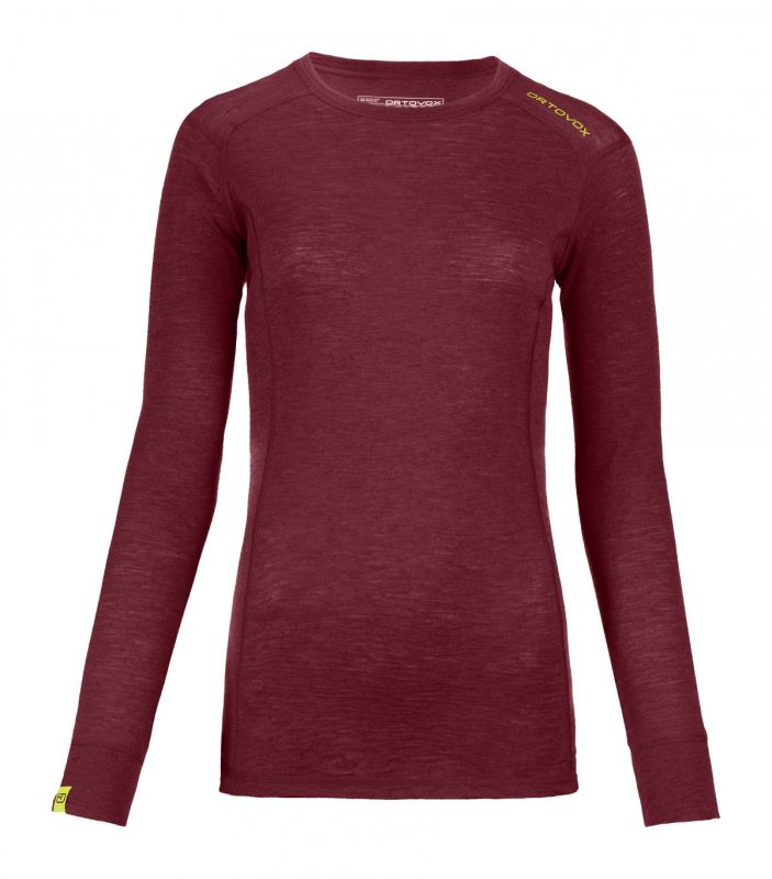 ORTOVOX 105 ULTRA LONG SLEEVE dámské tričko dark blood