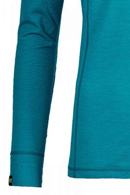 ORTOVOX 145 ULTRA ZIP NECK dámské tričko aqua