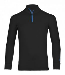 ORTOVOX 210 SUPERSOFT ZIP NECK tričko black raven