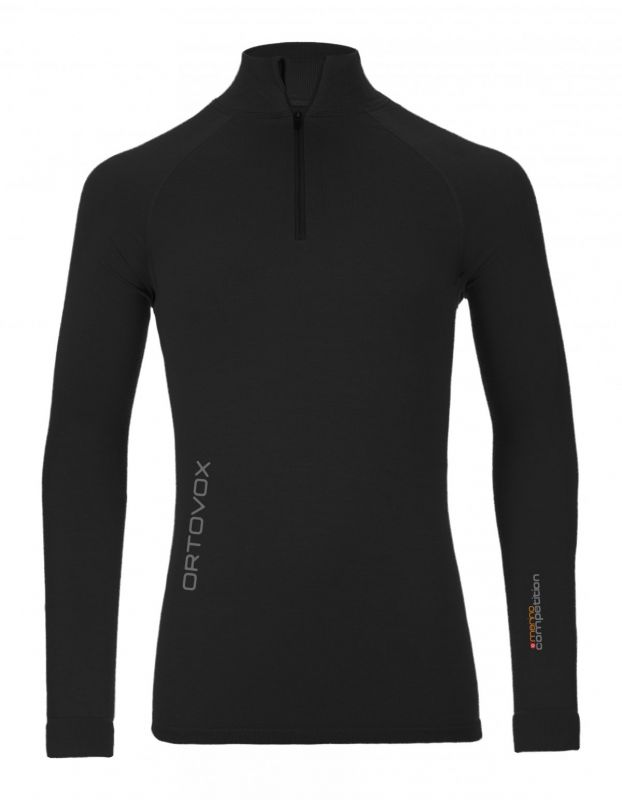 ORTOVOX 230 COMPETITION ZIP NECK tričko black raven