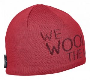 ORTOVOX WE WOOL THE WORLD BEANIE čepice hot coral