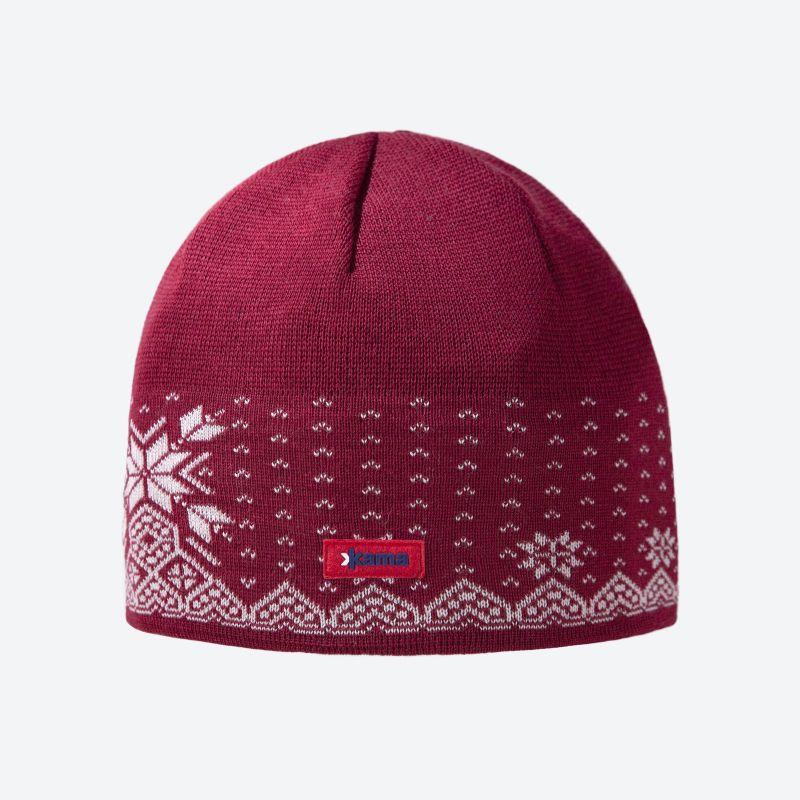 KAMA A37 pletená čepice červená