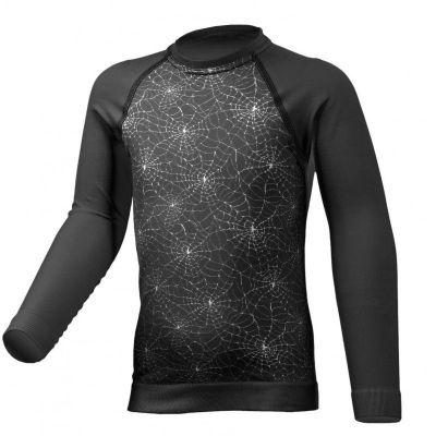 LASTING DAFNE dětské funkční tričko černá