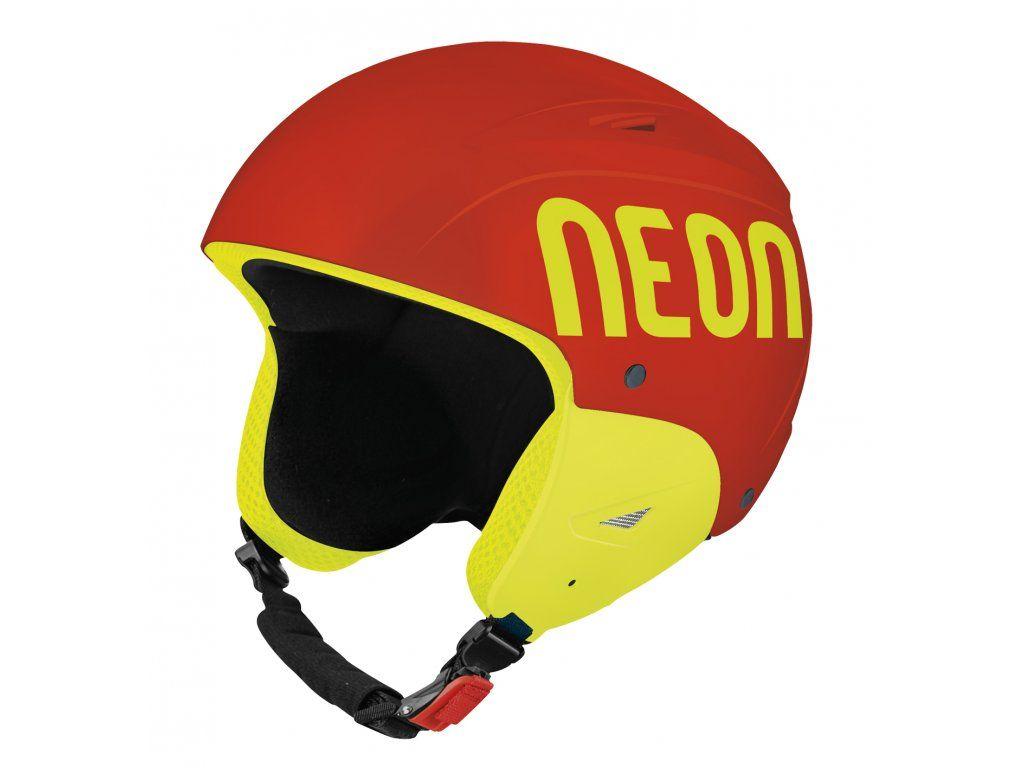 NEON WILD FIS lyžařská helma red fluo/yellow fluo