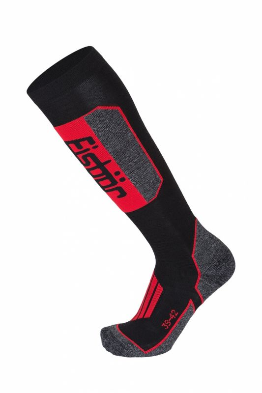 EISBÄR SKI TECH LIGHT M DX+SX ponožky black/red Eisbär