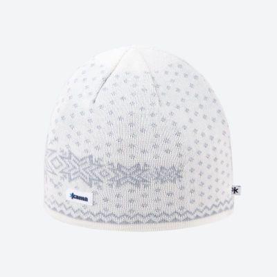 KAMA A128 pletená čepice přírodně bílá