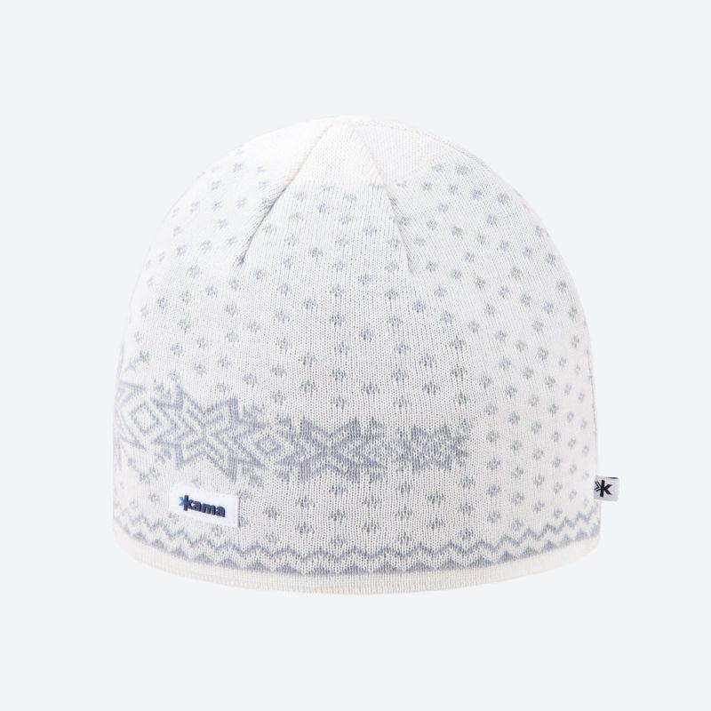 KAMA A128-101 pletená čepice přírodně bílá