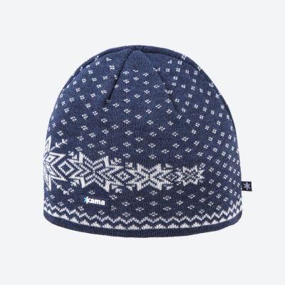 KAMA A128-108 pletená čepice tmavě modrá