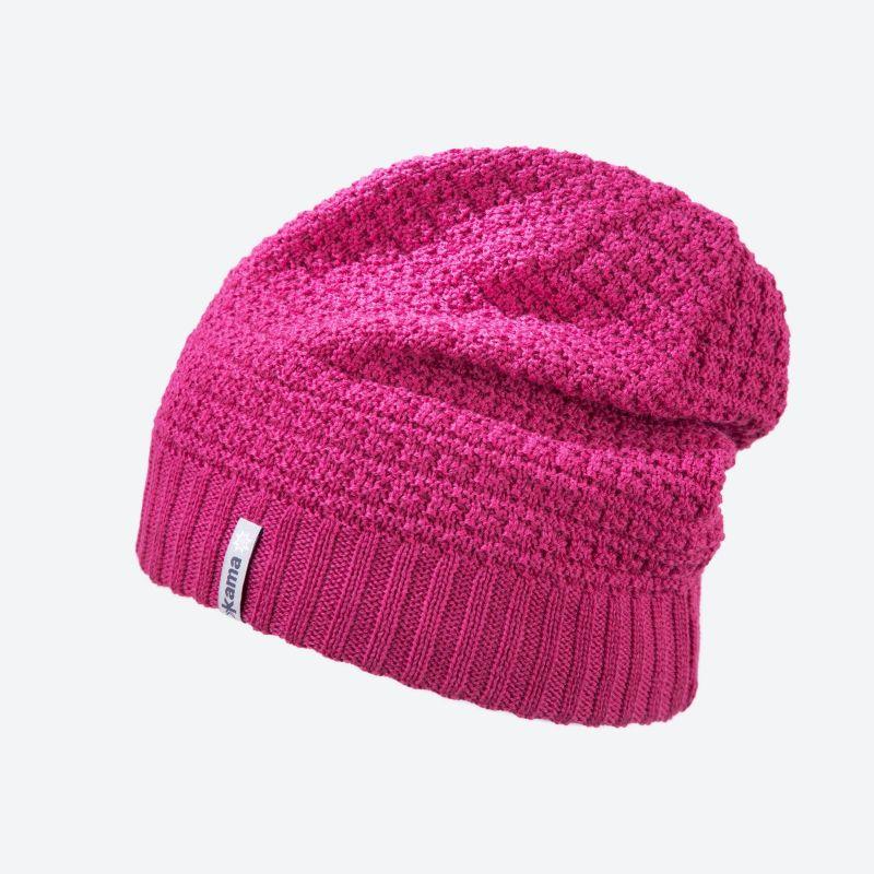 KAMA B77-114 dětská pletená čepice růžová