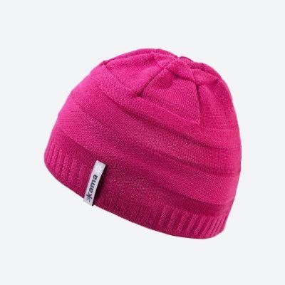 KAMA B78 dětská pletená čepice růžová