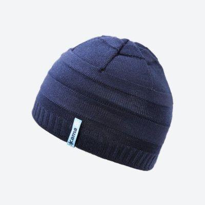 KAMA B78 dětská pletená čepice tmavě modrá