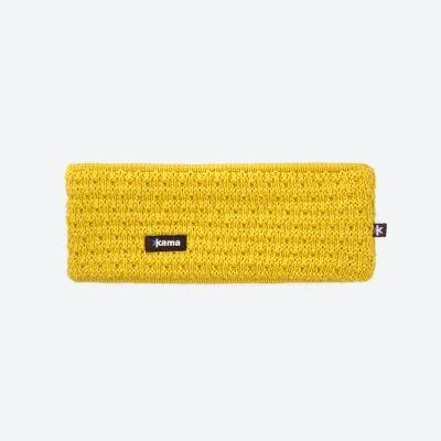 KAMA C36 pletená čelenka žlutá