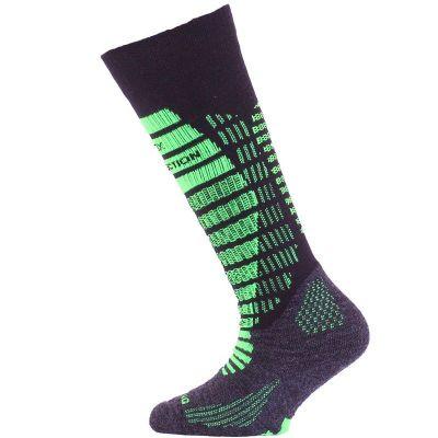 LASTING SJR dětské lyžařské ponožky zelená