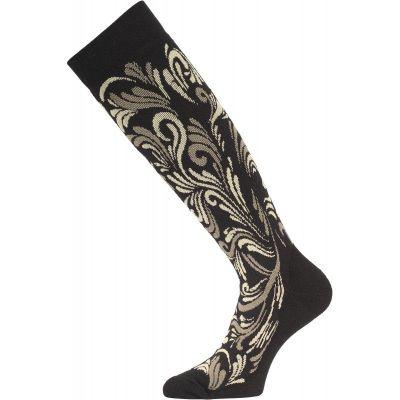 LASTING SWD dámské lyžařské ponožky černá