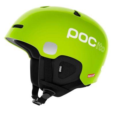 POC POCito AURIC CUT SPIN fluorescent lime green dětská lyžařská helma 20/21