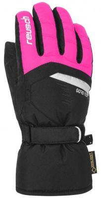 REUSCH BOLT GTX® Junior dětské prstové rukavice black/pink glo 18/19