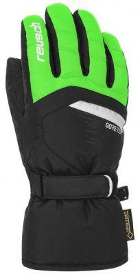 REUSCH BOLT GTX® Junior dětské prstové rukavice gecko green/black 18/19